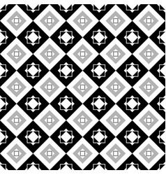 square black and gray seamless pattern vector image