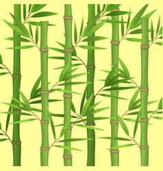 stalks of bamboo with green leaves flat theme in vector image vector image
