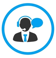 Support manager message rounded icon vector