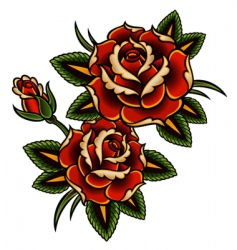 Tattoo rose vector