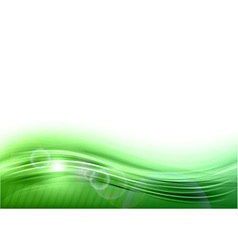 wave abstract green vector image vector image