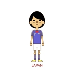 National japan soccer football player vector