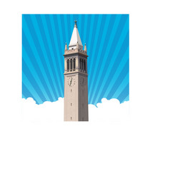 Berkeley campanile tower vector