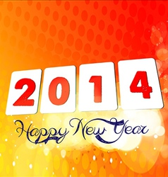 2014 happ new year vector image