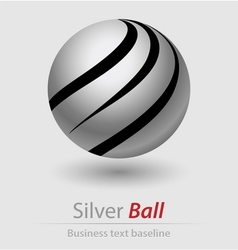 Silver ball elegant icon vector