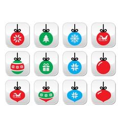 Christmas ball Christmas bauble buttons se vector image