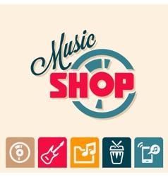 music shop logo vector image