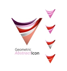 Set of abstract geometric company logo triangle vector