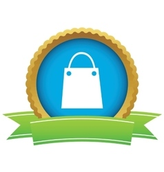Shopping bag certificate icon vector