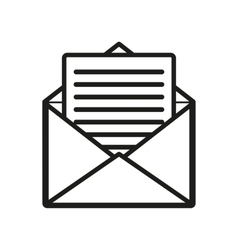 The mail icon open envelope symbol vector