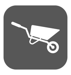 The wheelbarrow icon barrow symbol flat vector