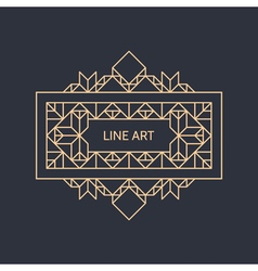Retro frame vintage decoration element line art vector