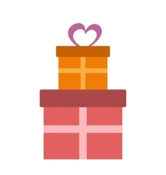 Gifts flat icon vector