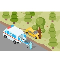 Ambulance emergency medical accident evacuation vector