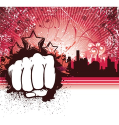 Urban background with fist vector