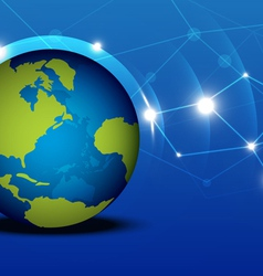 Globalization network vector image
