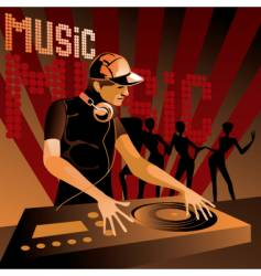 Disc jockey vector
