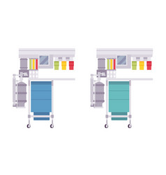 anesthesia machine set vector image