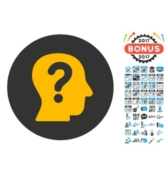 Anonymous person icon with 2017 year bonus vector