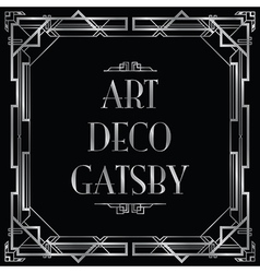 art deco gatsby square vector image vector image