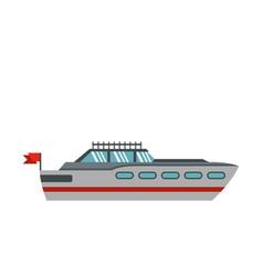 Big yacht icon flat style vector