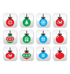 Christmas ball christmas bauble buttons se vector