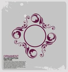 Circle vintage ornamente logo vector image