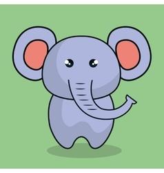cute elephant stuffed icon vector image
