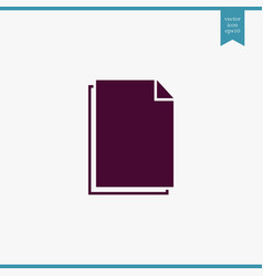 document icon simple vector image vector image
