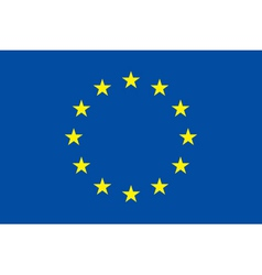 European union flag Original proportion and colors vector image vector image