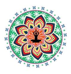 Geometric yoga design vector
