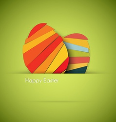 green Paper easter egg card vector image vector image