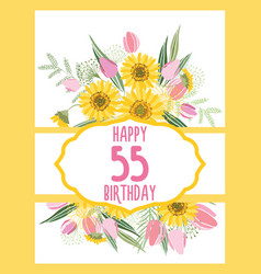 greeting card for anniversary birthday vector image vector image
