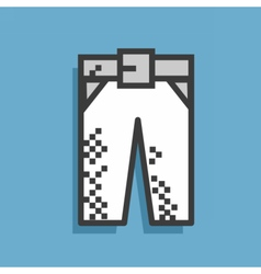 Icon jeans vector