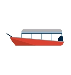 Isolated boat ship design vector image vector image