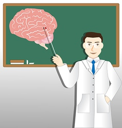 Neurology doctor and green board vector