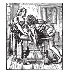 Once a week drawing charles keene in 1859 vintage vector