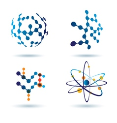 organic chemistry logo set vector image vector image