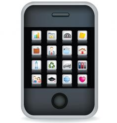 phone touchscreen vector image