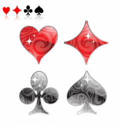 playing cards vector image vector image