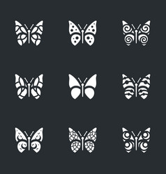 set of butterfly icons vector image vector image