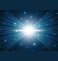 Technology digital future abstract arrow vector