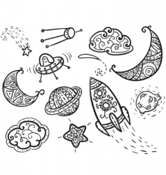 universe icons vector image vector image