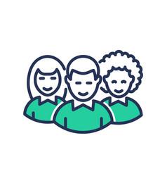 Volunteers - modern line ic vector