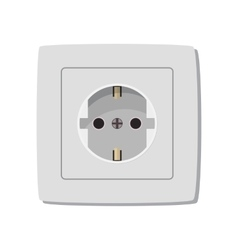 White electric socket vector image vector image