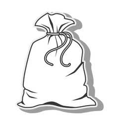 bag sack closed icon graphic vector image