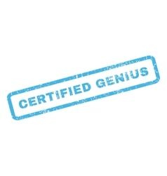 Certified genius rubber stamp vector