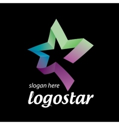 Star logo of colored ribbons vector