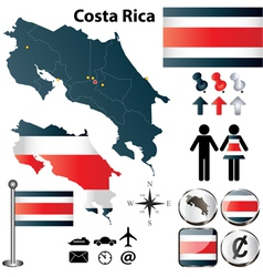 Costa rica map vector