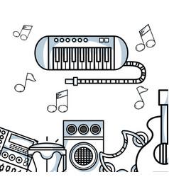 Music elements to play harmony rhythm vector